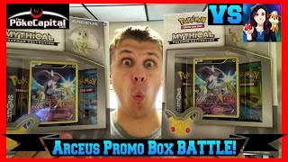 Arceus Mythical Pokemon Collection Box Double Opening Battle vs Super Duper Dani by ThePokeCapital