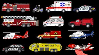 Download Video Emergency Vehicles - Rescue Trucks - Fire, Police & Ambulance - The Kids' Picture Show