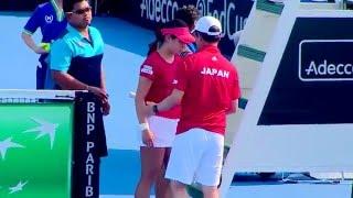 TENNIS Fed Cup Single women (1) Luksika KUMKHUM  (THA)  VS Nao  (JPN)