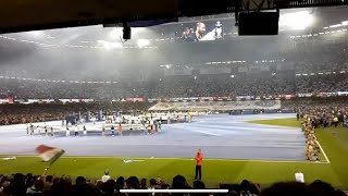 The Champions League anthem from the Millennium Stadium in Cardiff in the 2017 UCL Final