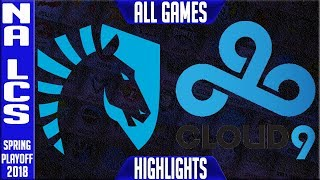 Video TL vs C9 Playoffs Highlights ALL GAMES | NA LCS Quarterfinal Spring 2018 | Team Liquid  vs Cloud 9 MP3, 3GP, MP4, WEBM, AVI, FLV Juni 2018