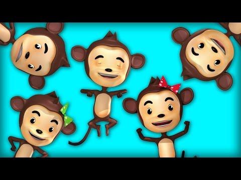 Nursery Rhymes and Kids Songs   Five Little Monkeys   Raggs TV