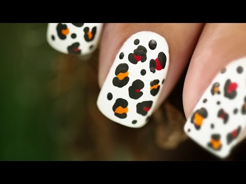 nail art - effetto leopardo