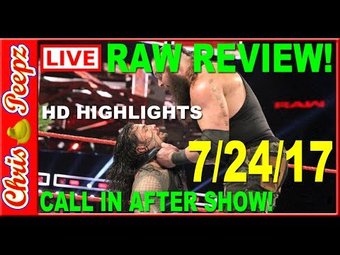 🔴 WWE RAW Live 7/24/17 Full Show Review, HD Results, Reactions! F'in Jason Jordon!?