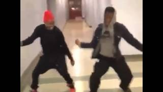Two guys dancing to the Little Einsteins remix