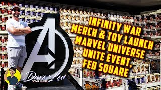 Video AVENGERS: INFINITY WAR Toy & Merchandise Launch at MARVEL UNIVERSE UNITED, Federation Square MP3, 3GP, MP4, WEBM, AVI, FLV Maret 2018