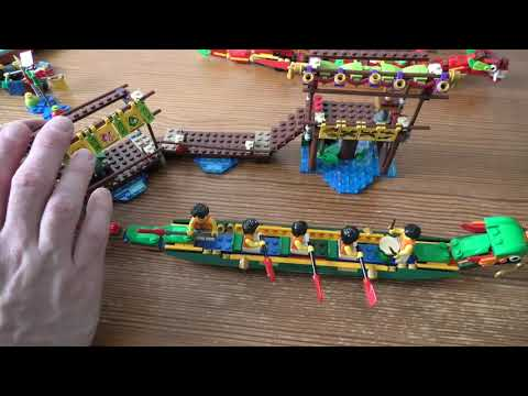 Review Lego Dragon Boat Race SET 80103 4K