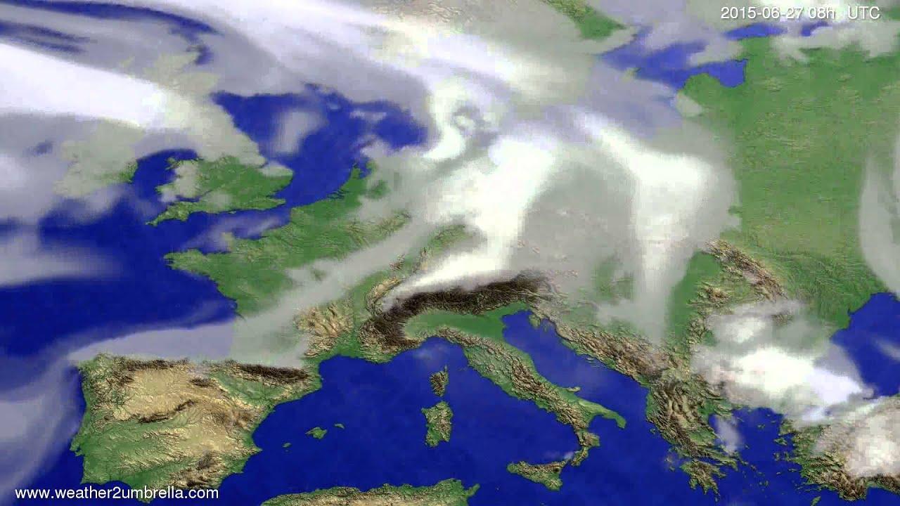 Cloud forecast Europe 2015-06-23