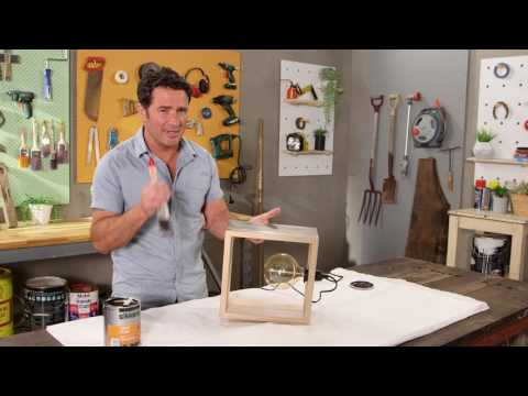 Staining The Box Lamp with Sikkens | The Home Team S3 E30