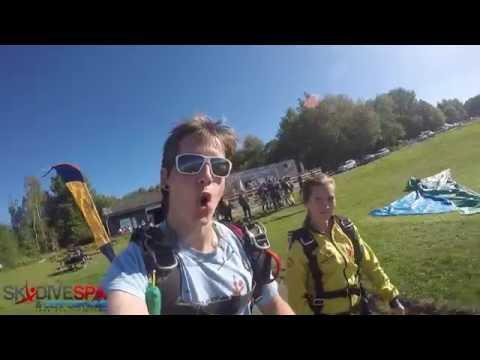 Laurie saut en parachute tandem 09-09-2016 Spa- Craig