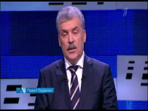 Грудинин подарил собчак цветы и покинул дебаты/полное видео 07 03 2018 08 05 - DomaVideo.Ru