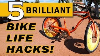 Check out these awesome life hacks for your bicycle!Shot entirely with the Nikon KeyMission 170 in 4K. Thanks to Nikon for providing the gear.See the Color Wheel Hack in 360° here: http://bit.ly/ColorWheel360Check out the KeyMission 170 here: http://bit.ly/2nTHM6D---------------------------Popular Playlists----------------------------LASERS: http://bit.ly/LaserProjectsEASY: http://bit.ly/EasyProjectsHACKS/MODS: http://bit.ly/HacksModsMore videos at: http://www.kipkay.comSubscribe to Kipkay: http://bit.ly/SubscribetoKipkayFollow on Instagram: https://www.instagram.com/kipkayvideos/Follow on Twitter: https://twitter.com/KipKayFacebook: https://www.facebook.com/KipkayVideosFor business and sponsorship inquiries, contact me at videos@kipkay.com