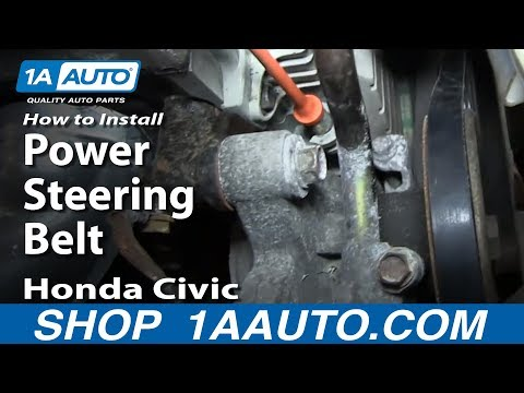 How To Install Remove Change Power Steering Belt 1996-00 1.6L Honda Civic
