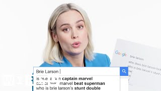 Video Brie Larson Answers the Web's Most Searched Questions | WIRED MP3, 3GP, MP4, WEBM, AVI, FLV Maret 2019