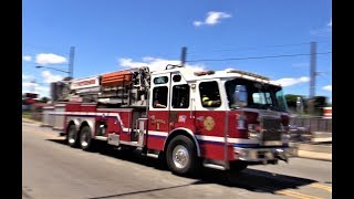 Paterson NJ Fire Department Various Apparatus Responding July 2017  including Ladder 1, Engine 3, Engine 4, Engine 3 again,  Engine 6 and Rescue 1 arriving on a scene.