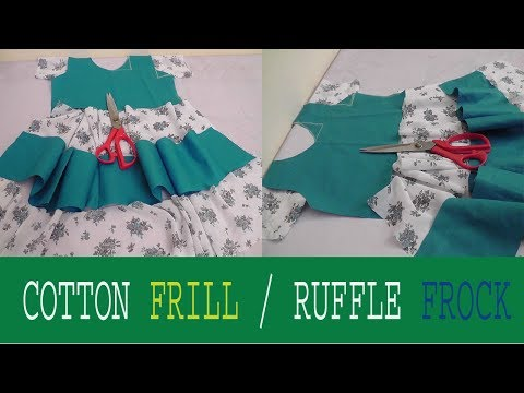 Video Simple Summer cotton Ruffle/ frill frock cutting and stitching part-1 download in MP3, 3GP, MP4, WEBM, AVI, FLV January 2017