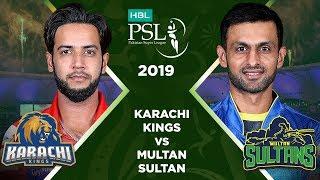 Match 2: Full Match Highlights Karachi Kings v Multan Sultan | HBL PSL 4 | 2019