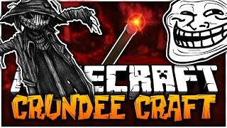 Minecraft: INSANE SCARE CROW SCREAMING PRANK - Crundee Craft