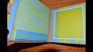 I bought this 8.5 x8.5 paper a long time ago. Finally used it to create yet another album using Gingers tutorial from mysistersscrapper. This is not the pape...