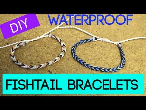 DIY Fishtail Braid Wax String Friendship Bracelet | Waterproof Bracelets