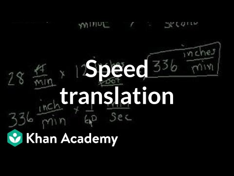 Speed Translation Video Intro To Rates Khan Academy