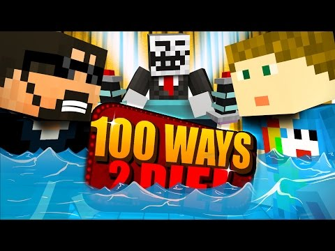 Minecraft: 100 WAYS TO DIE CHALLENGE - A MASSIVE WAVE!! (видео)