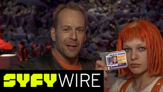 Watch an exclusive clip from the 20th anniversary release of Luc Besson's The Fifth Element available on 4K Ultra HD 7/11►►Subscribe To SYFY Wire: http://po.st/SubscribeSYFYWireMore About The Fifth Element: The Fifth Element (French: Le Cinquième Élément) is a 1997 English-language French science-fiction action film directed and co-written by Luc Besson. It stars Bruce Willis, Gary Oldman and Milla Jovovich. Primarily set in the 23rd century, the film's central plot involves the survival of planet Earth, which becomes the responsibility of Korben Dallas (Willis), a taxicab driver and former special forces major, after a young woman (Jovovich) falls into his cab. Dallas joins forces with her to recover four mystical stones essential for the defence of Earth against an impending attack.SYFY WIRE is a fan-first genre news and editorial destination dedicated to covering science fiction and nerd culture across TV, Film, Books, Comics, space and technology with up-to-the-minute news, in-depth analysis and content that drives conversation and debate.Visit SYFYWIRE.com: po.st/SYFYWIREFind SYFYWIRE on Facebook: po.st/LikeSYFYWIREFollow SYFYWIRE on Twitter: po.st/FollowSYFYWIREExclusive Preview: Luc Besson on the Origins of Fifth Element  SYFY WIREhttps://www.youtube.com/channel/UC985XM8r_uh-_znGrj8HG9w