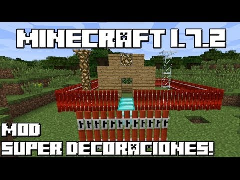Minecraft 1.7.2 MOD SUPER DECORACIONES!