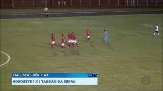 Norusca sai atrás e empata no último minuto contra o Taboão da Serra