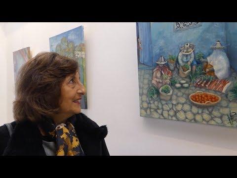 العرب اليوم - التشكيلية المغربية إيستير بنمامان تعرض لوحاتها