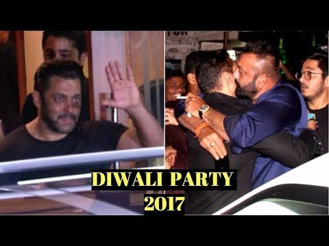 Salman Khan At Sanjay Dutt's Diwali Party 2017