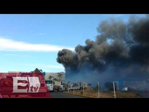 Incendio arrasa con recicladora en Aguascalientes