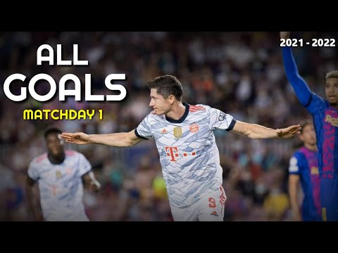 All Goals Of Matchday 1 Groupe Stage   Champions League Highlights 2021-2022🔥🔥