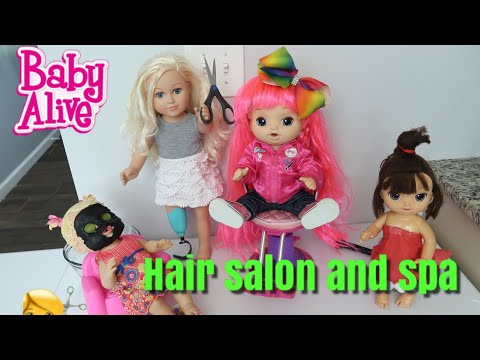 BABY ALIVE Hair Salon And Spa baby alive videos