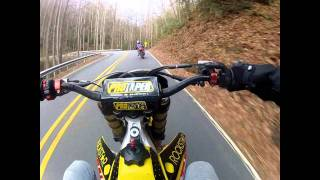 1. supermoto rmz450 vs gsxr 750 goproHD  ***FOR SALE READ DESCRIPTION****