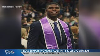A few years prior, Bakari Henderson served as a messenger in the Texas Senate and also as an intern for Speaker of the House...