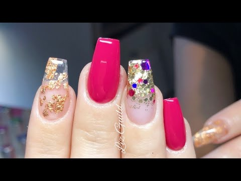 Nail art - Acrylic Nails, Infill And Redesign, Real Time Application