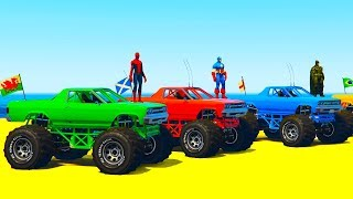 Color offroad truck and fun monster truck with SuperheroesLearn Colors Fun Cars w Superheroes Cartoon Animationhttps://youtu.be/HptlIpaxHA4Colors for Kids Big Bus with Fun Superheroes Cartoon For Toddlershttps://youtu.be/wklkZ7p55XcLearn Colors Big School Bus w Superheroes Cartoon For Kids & Babieshttps://youtu.be/GUfVs6qNNAILearn Colors With Tractor Spiderman Car Cartoonshttps://youtu.be/RAvgag9v11U