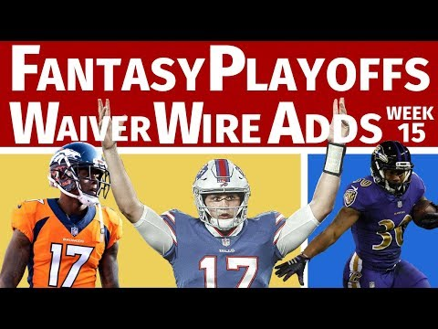 Fantasy Football Playoffs Waiver Wire Pickups - Week 15