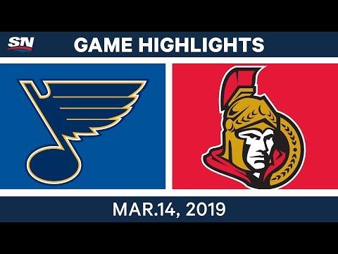NHL Highlights | Blues vs. Senators  – Mar 14, 2019