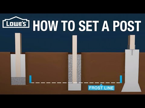 How to Set a Post for a Fence or Deck