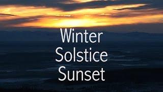 Winter Solstice Sunset (Alaska)