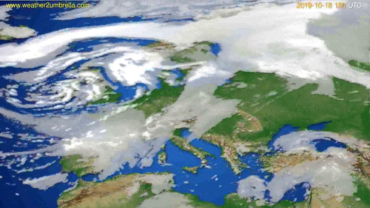 Cloud forecast Europe // modelrun: 12h UTC 2019-10-15