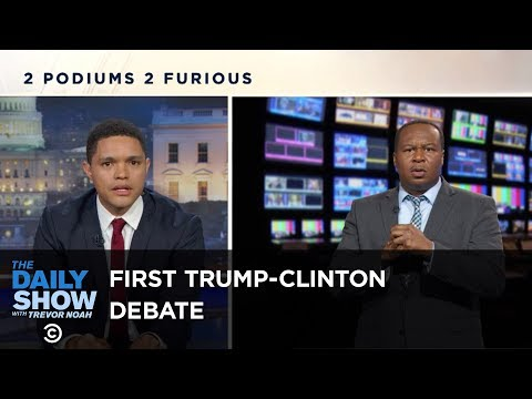 Late Night Comedians Dissect The Upside Down First Presidential Debate