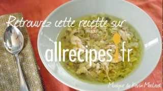 Comment faire une soupe de poulet aux poireaux ?