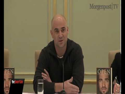 Andre Agassi stellt Buch in Berlin vor