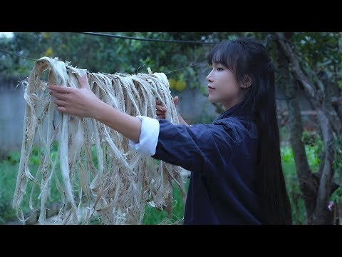 Chinese Woman Making Paper