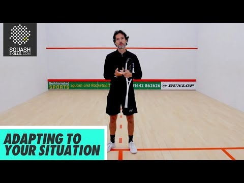 Squash Tips: Adapting To Your Situation - Skill Development & Ball Control with Lee Drew