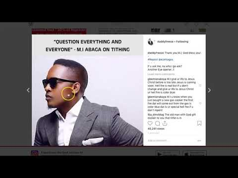 MI ABAGA's FATHER EDUCATES HIM ABOUT TITHE | DADDY FREEZE IN