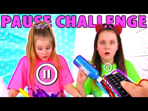 PAUSE CHALLENGE MAKING SLIME GONE WRONG!!